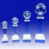 Crystal Soccer Trophy TH093 (Size: Small)
